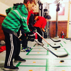 small group training at farm tough hockey